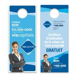 Cartons accroche-porte, recto-verso (3½x8½) VCPROD02