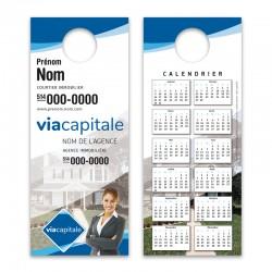 Cartons accroche-porte, recto-verso (3½x8½) VCPROD03