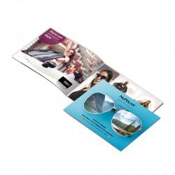 Brochures sur 80 lbs gloss ou silk, format plié 5.5x8.5