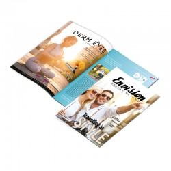 Brochures sur 80 lbs gloss ou silk, format plié 8.5x11