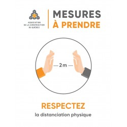 Affiches Respectez la distanciation, imprimé 1 coté