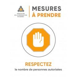 Affiches Respectez  le nombre de personnes autorisés, imprimé 1 coté
