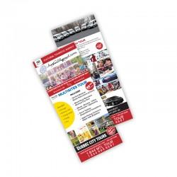 Cartons Publicitaires 3.5x8.5, 4/0 + Vernis AQ, sur 16 pts C2C