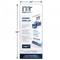 Cartons Publicitaires 3.5x8.5, 4/4, Laminé mat + Film métallique or ou argent 2 côtés