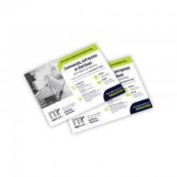 Cartons Publicitaires 4.25x5.5, 4/0 sur Enviro 13 pts
