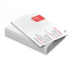 Cartes d'affaires 14 points mat, imprimées 1 côté