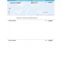 Chèques personnalisés pour imprimante laser - FOND MARBRÉ