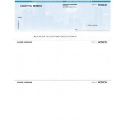 Chèques personnalisés pour imprimante laser - FOND GRATTE-CIEL