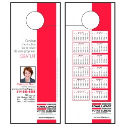 Cartons accroche-porte, recto-verso (3½x8½) MCPROD04