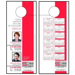 Cartons accroche-porte, recto-verso (3½x8½) MCPROD05